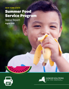 Summer Food Service Program Status Report August 2020
